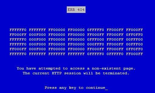 « ERROR 404 »